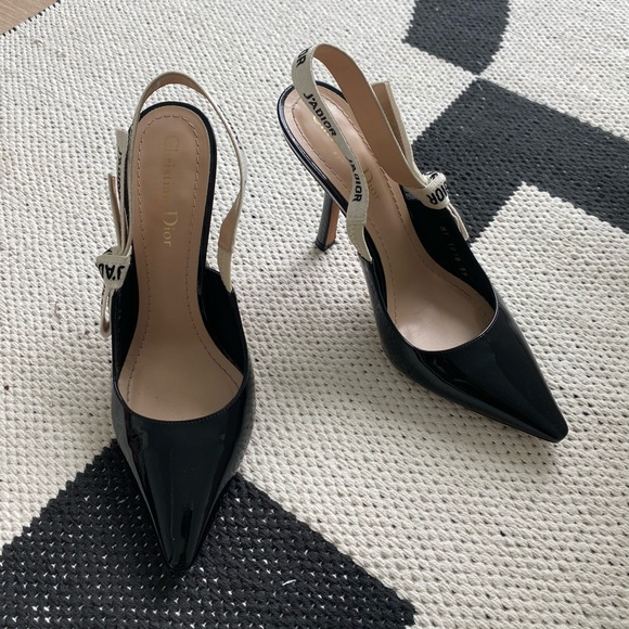 Dior Patent Leather Slingback heels
